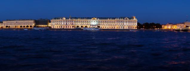 Panorama of Hermitage at Evening, Saint Petersburg