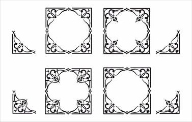 decorative corner and frame