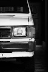 White old Japanese car