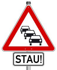 Stau Schild  #141009-svg08