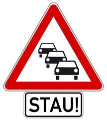 Stau Schild  #141009-svg09