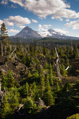 McKenzie Pass Lava Fields Three Sisters Little Brother Mountains