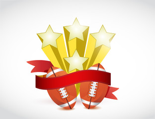 football champion ribbon illustration