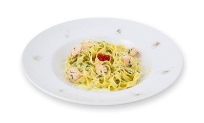 Sspaghetti pasta on a plate