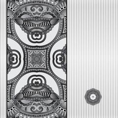 grey geometric background, vintage ornamental design template fo