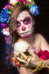 Halloween face art calavera