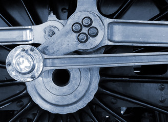 Railway engine wheel