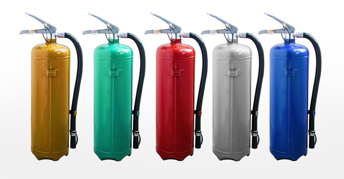 Portable colorful fire extinguisher