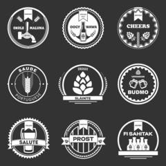 Beer logo on a black background