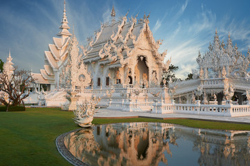 Wat Rong Khun in morning light, Chiangrai, Thailand