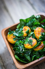 Sweet plantain and kale salad