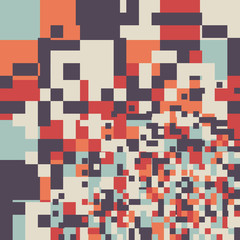 Abstract Pixel Vector Background