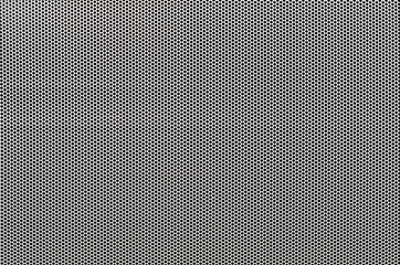 White metal perforated with dots background
