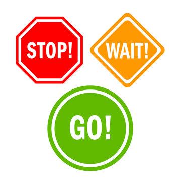 Stop wait go sign