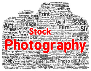 Stock photography word cloud shape