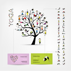 Business cards design, yoga tree