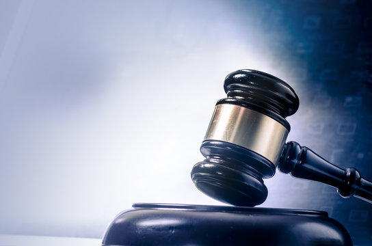 Legal law concept image gavel  screen display