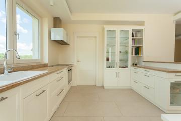 Bright delicate kitchen