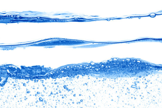 Three waves of water