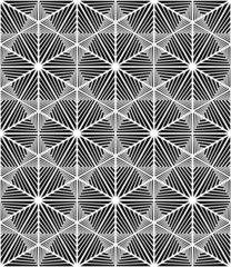 Abstract Triangle Bases Black and White Seamless Pattern, Vector