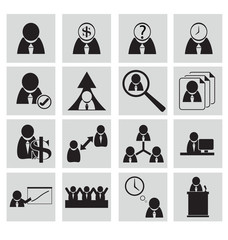 Human resources and management icons vector illustration