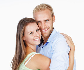 Portrait of a Happy Young Couple Smiling