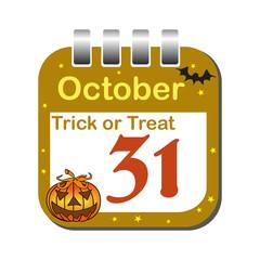 Halloween calendar sheet