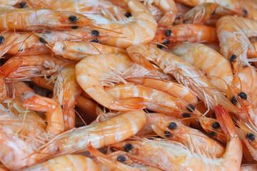 Background of shrimp closeup horizontal