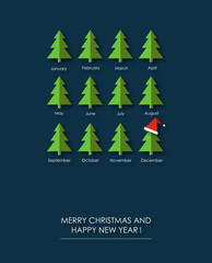Merry Christmas and Happy New Year funny gift card