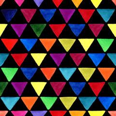 Triangle watercolor pattern.