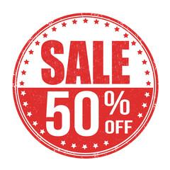 Sale 50% off stamp