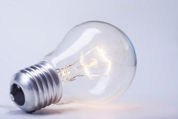 A glowing bulb