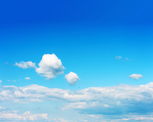 Beautiful View on Blue Sky and Clouds