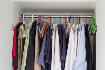 closet of man shirts