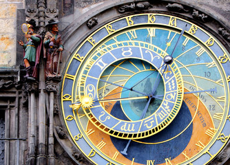 Poster Prague Prague Astronomical Clock (Orloj) in the Old Town of Prague