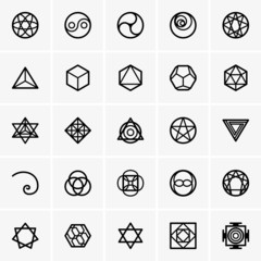 Sacred geometry icons