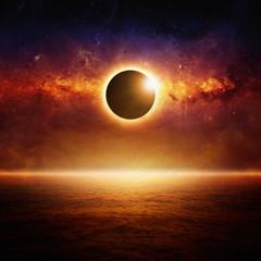 Fototapete - Full sun eclipce