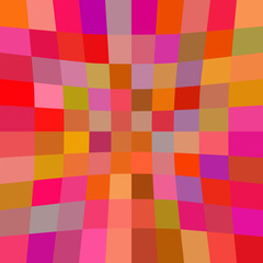 Abstract background with red squares. Raster