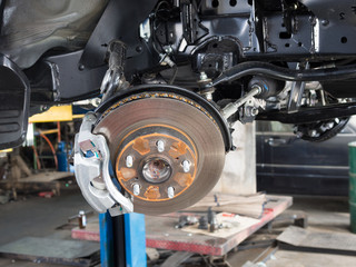 Wheel and disc break in maintenance process