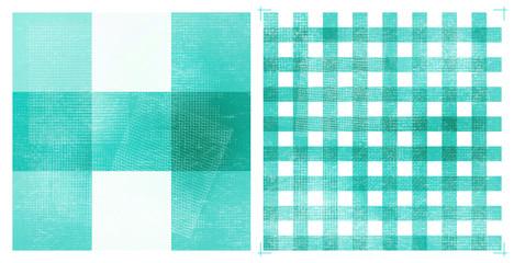 Pastel Grunge Checkered Pattern