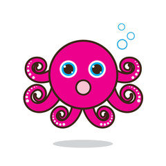 Octopus cute cartoon eps 10 vector