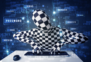 Man without identity programing in technology enviroment with cy