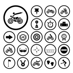 Wall Mural - competition motorcycle symbol