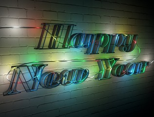 On the wall of the new year