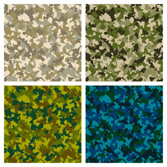 Set of seamless camouflage pattern