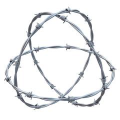 barbed wires  3d illustration