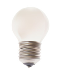 White Lamp. Vector Isolated on the Background.