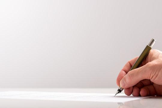 Hand Writing Using Classic Fountain Pen