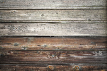 Old wooden wall, vintage background photo texture