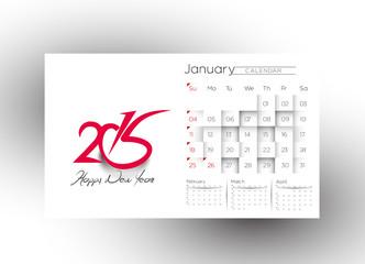 Creative New Year Calendar 2015 Background.